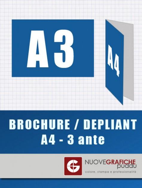 Depliant Formato aperto A3 chiuso A4
