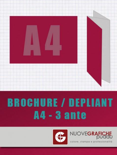 Depliant Formato A4 - 3 ante