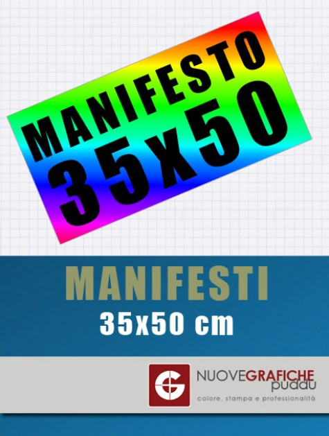 Manifesti 35x50 cm
