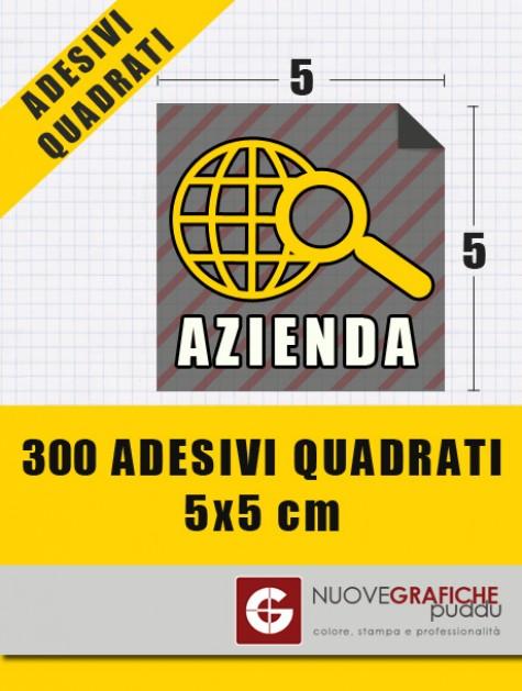 300 Adesivi Quadrati 5x5 cm