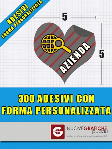 300 Adesivi con Forma Personalizzata